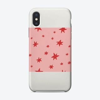 Pink And Red Stars Phone Case