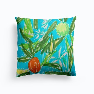 Orange Blossom Canvas Cushion