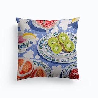 Fruity Tea Party Canvas Cushion