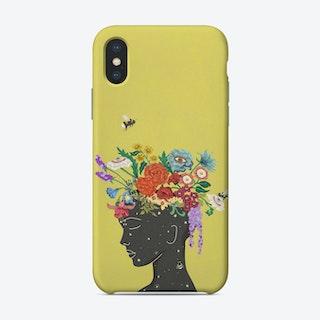 Flourish In Yellow Phone Case