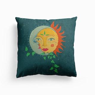 The Sun And The Moon Canvas Cushion