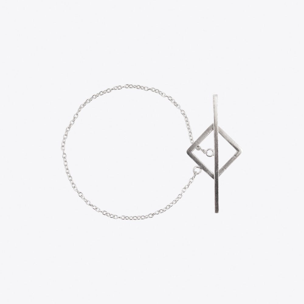 Square Bar Bracelet in Silver