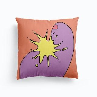 Splash Canvas Cushion