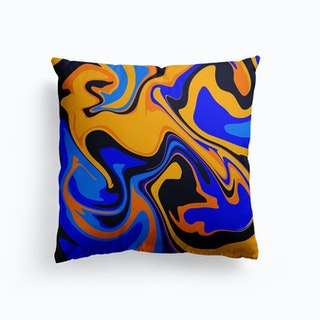 Fiesta Swirl Canvas Cushion