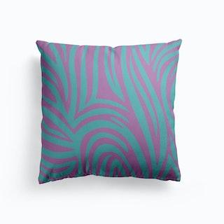 Aqua Tiger Canvas Cushion