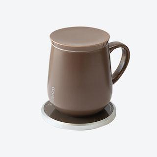 Ui Mug & Heater / Wireless Charger Set - Black Walnut