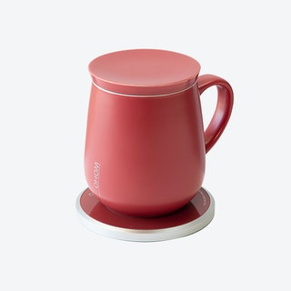 Ui Mug & Heater / Wireless Charger Set - Coral Red