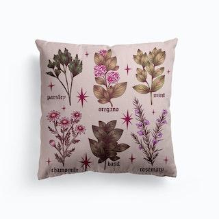Herbs Canvas Cushion