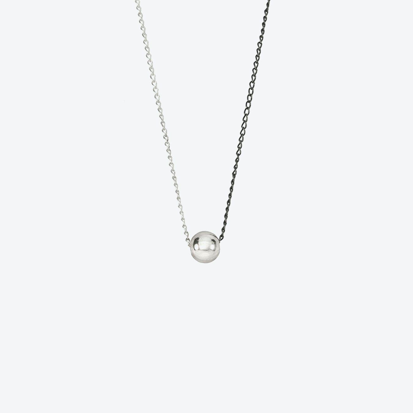 Silver Half & Half Necklace