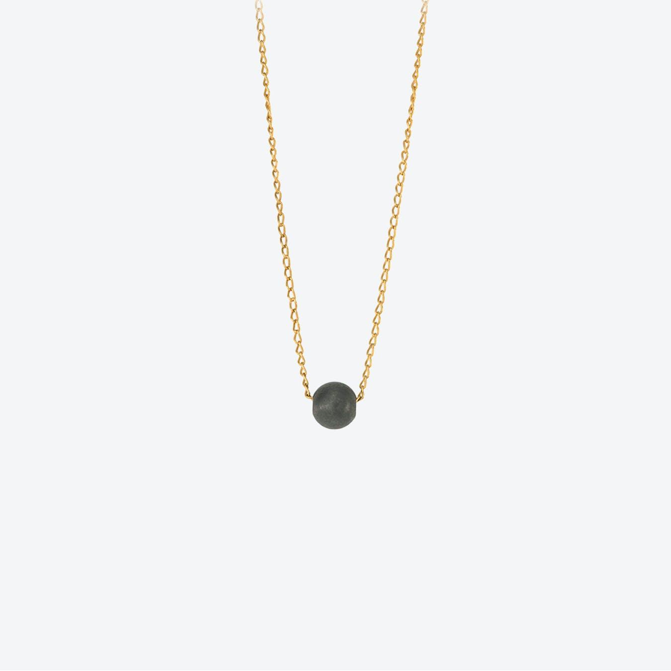 Black Sphere Necklace