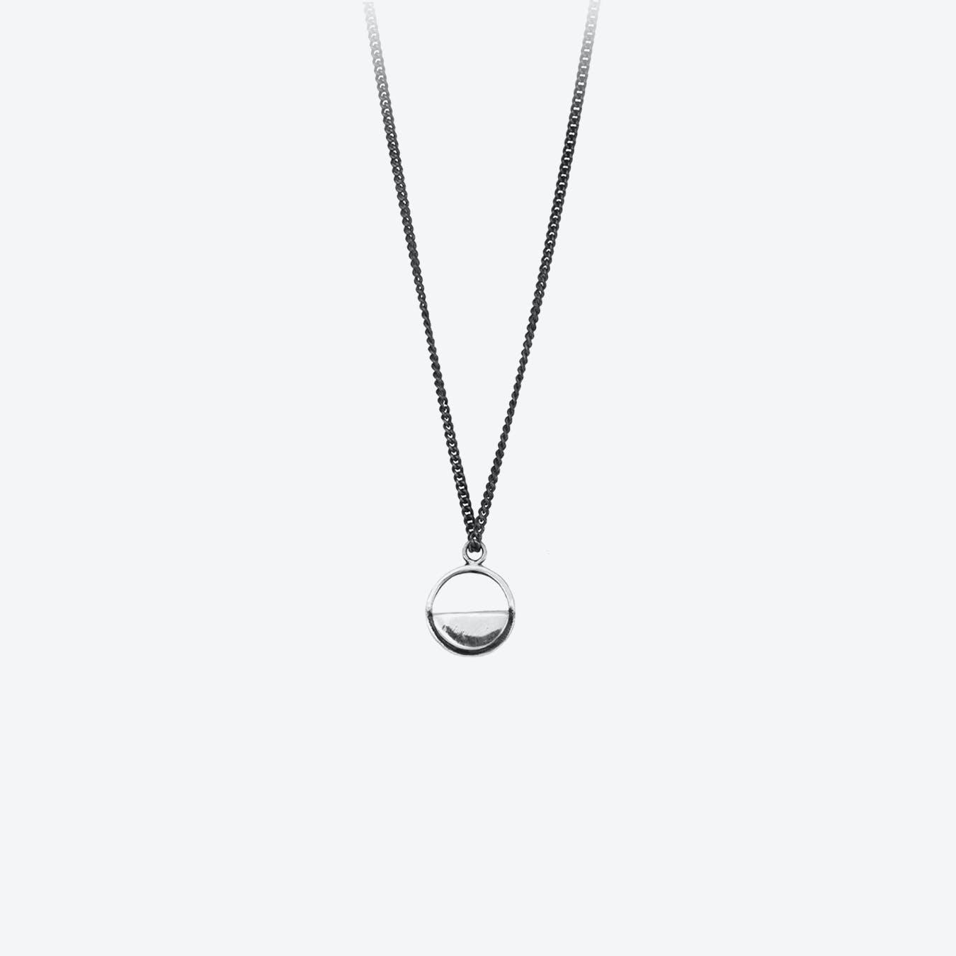 Silver Semi Circle Necklace