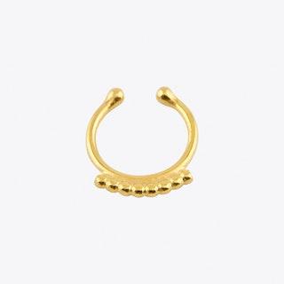 Dot Fake Septum Hoop in Gold