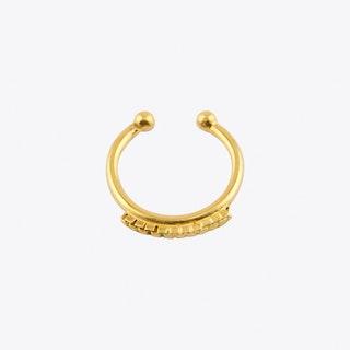 Chain Fake Septum Hoop in Gold