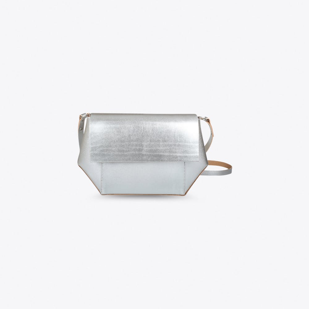 Mira Cross Body Bag In Silver