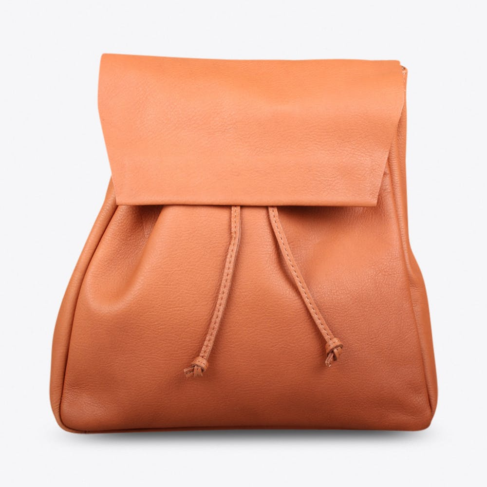 New Backpack In Cognac