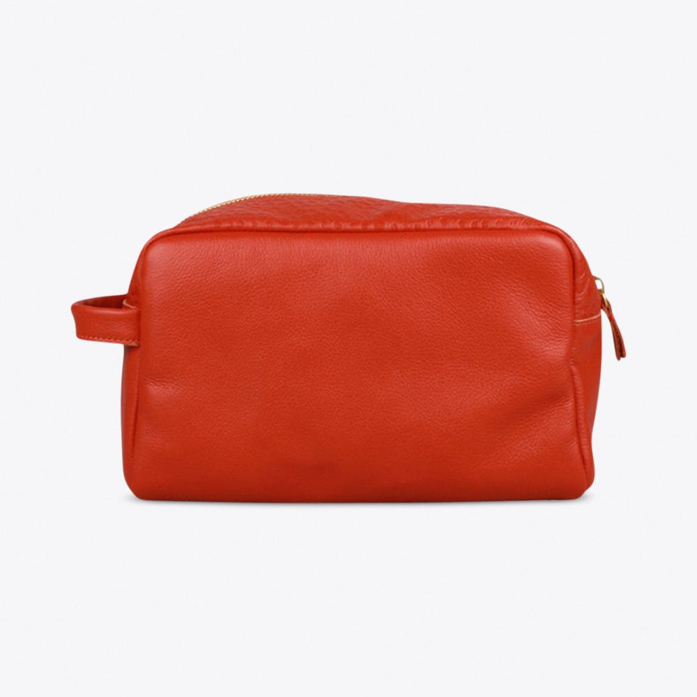 Boyfriend Washbag in Orange Red