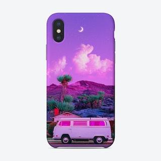 Purple Retro Landscape Phone Case