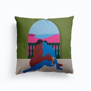 Baecation Canvas Cushion