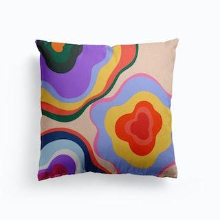 Flower Bunch Canvas Cushion