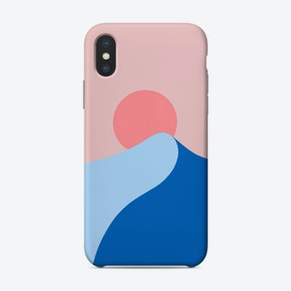 Waves At Sunset Phone Case