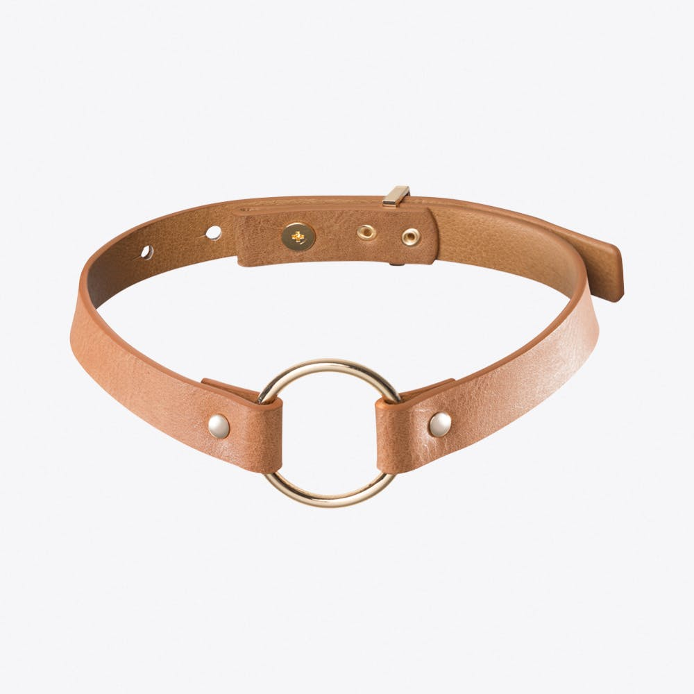Maze Single Choker in Tan