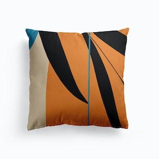 Orange Canvas Cushion