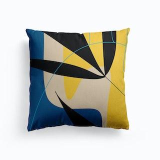 Blue Canvas Cushion