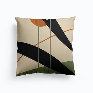 Brown Canvas Cushion