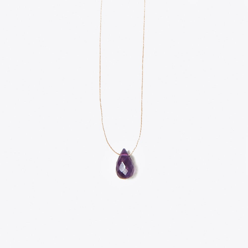 Purple Amethyst Drop Necklace