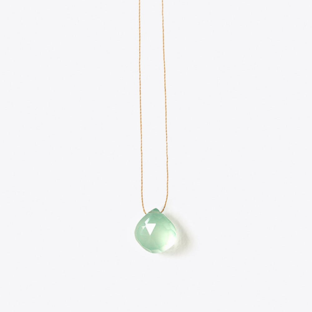Sea Glass Green Chalcedony Necklace