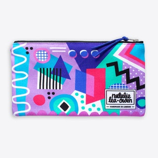 Abstract Zippered Pouch