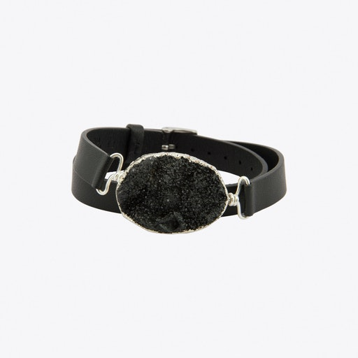 Time to Rock Black Sugar with Double Strap Bracelet