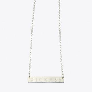 Kickass Horizontal Bar Necklace in Silver