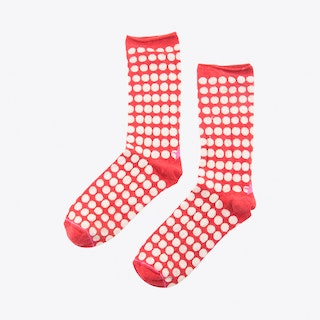 Big Dots Socks in Red