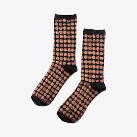 Big Dots Socks in Black