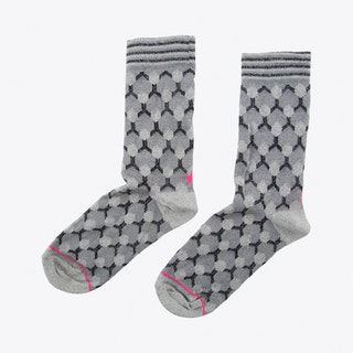 Net Socks in Grey