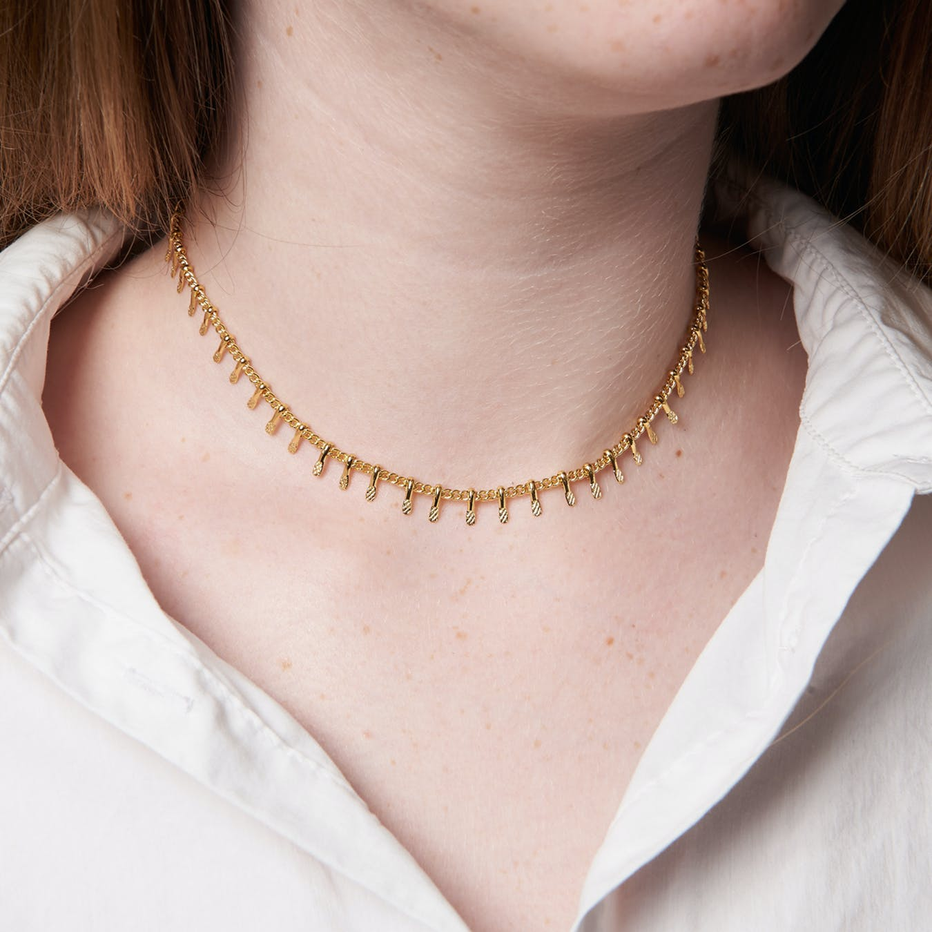 Gold Chain Tassel Choker