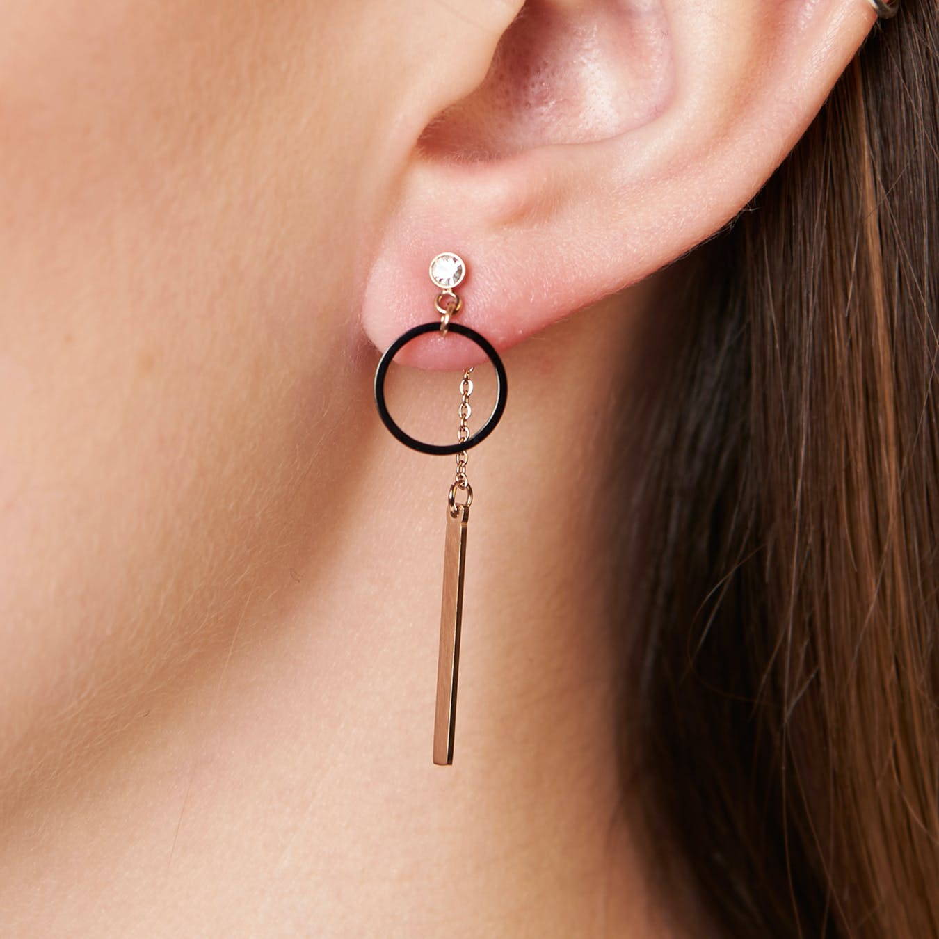 Minimal Sleek Two-Way Earrings