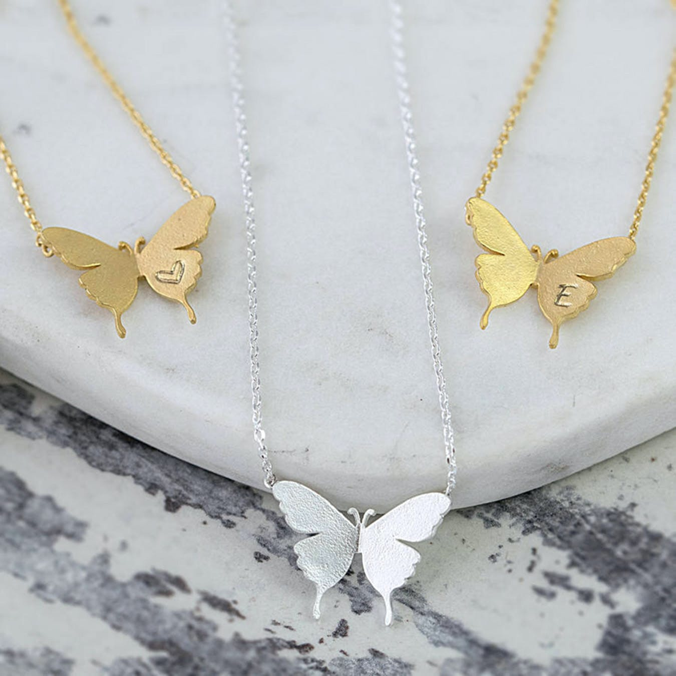 Delicate Silver Butterfly Necklace