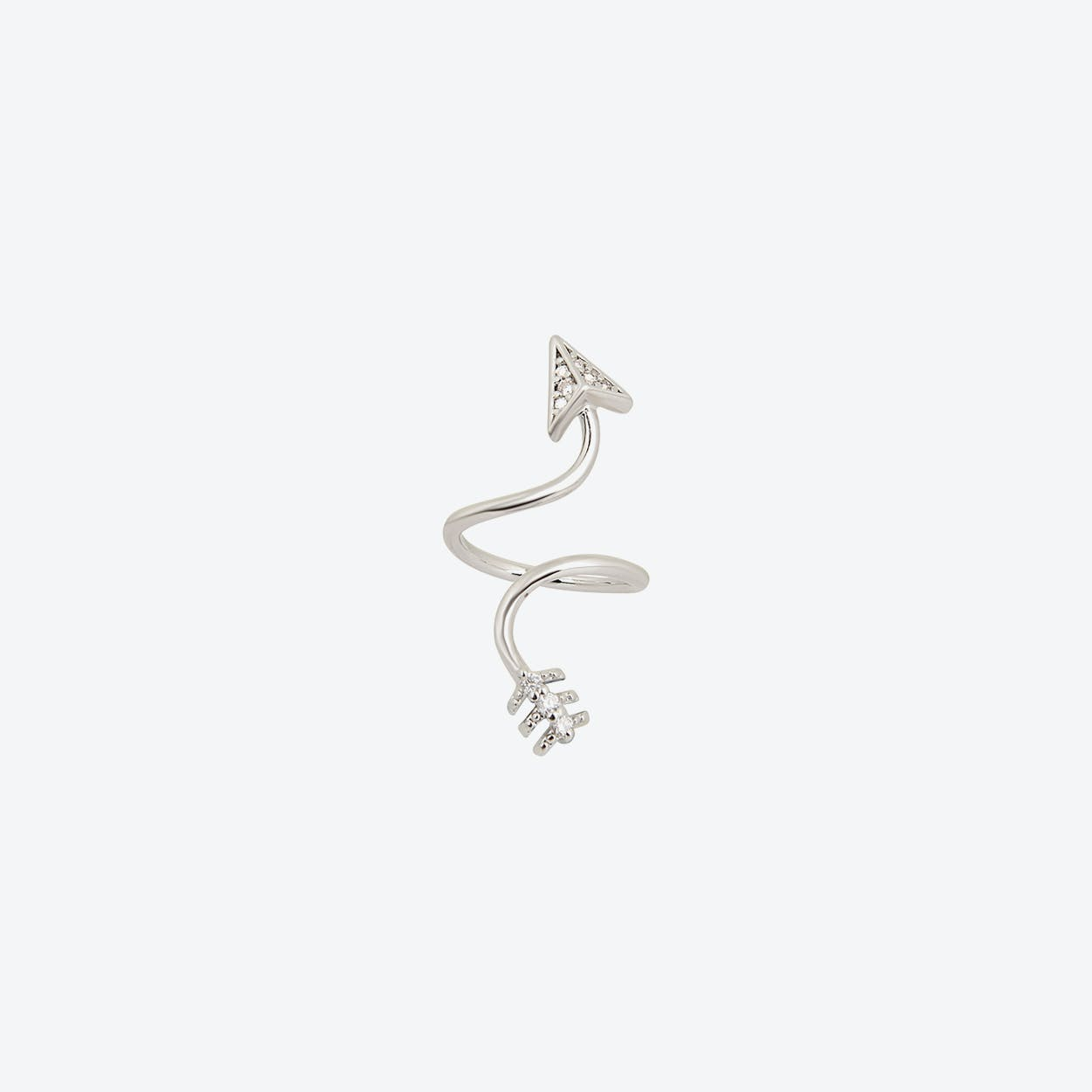 White Gold Arrow Midi Ring