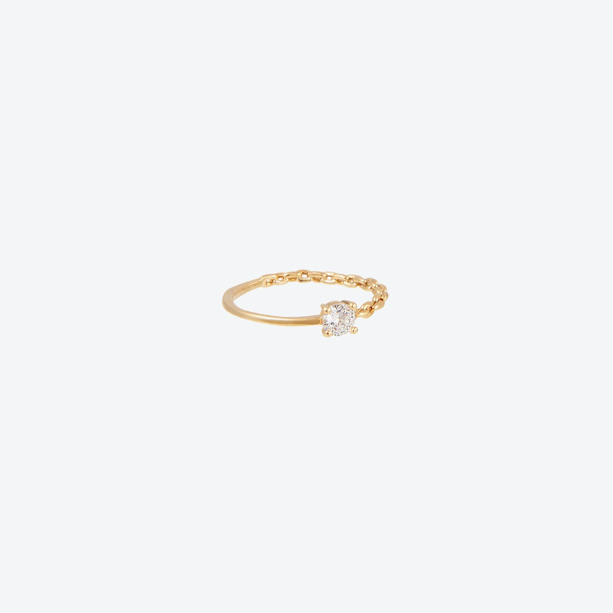 Cubic & Chain Band Ring