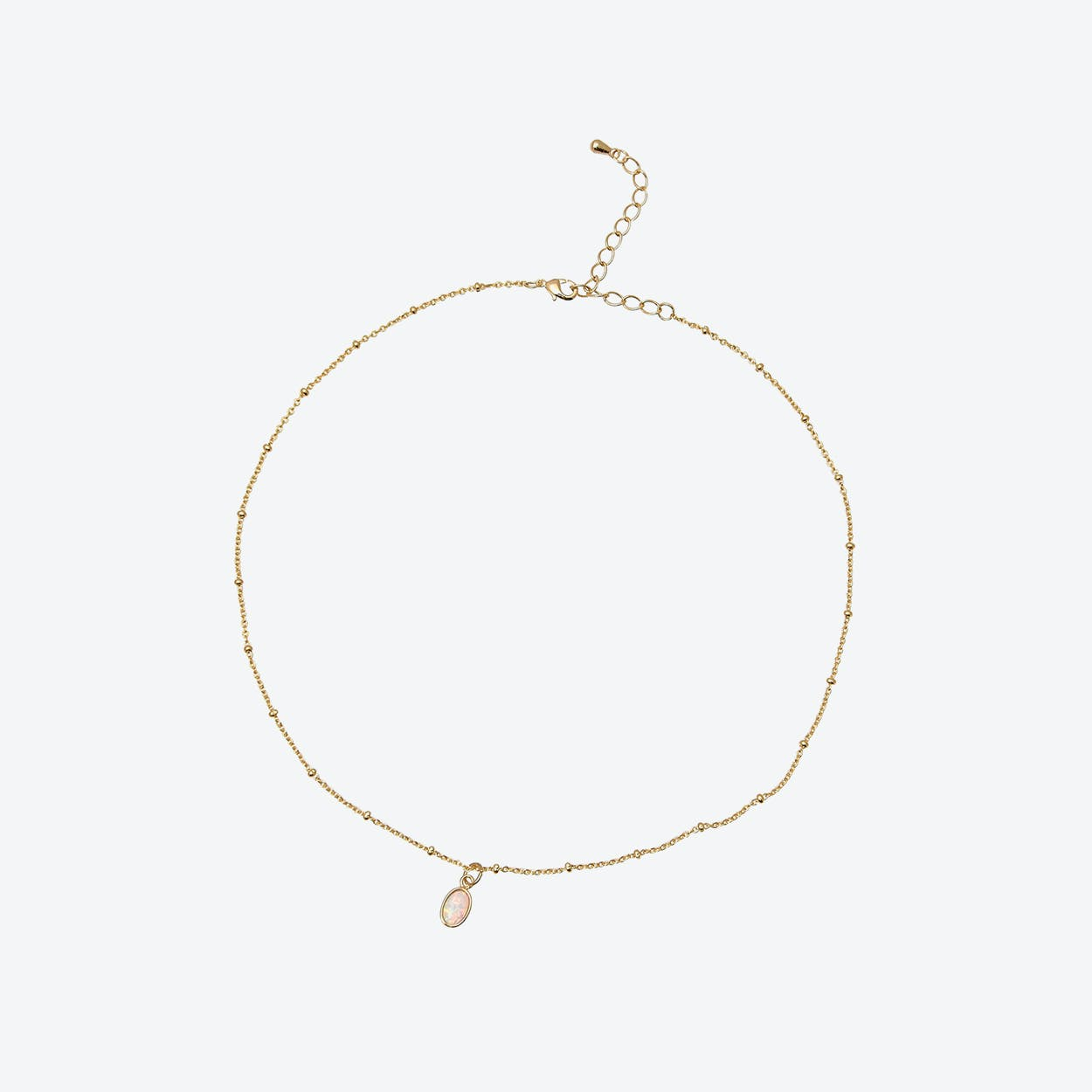 Gold Delicate Chain with Opal Choker