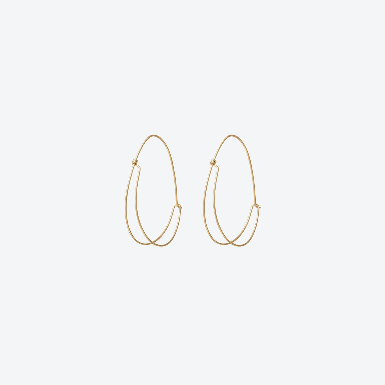 Double Line Hoop Earrings