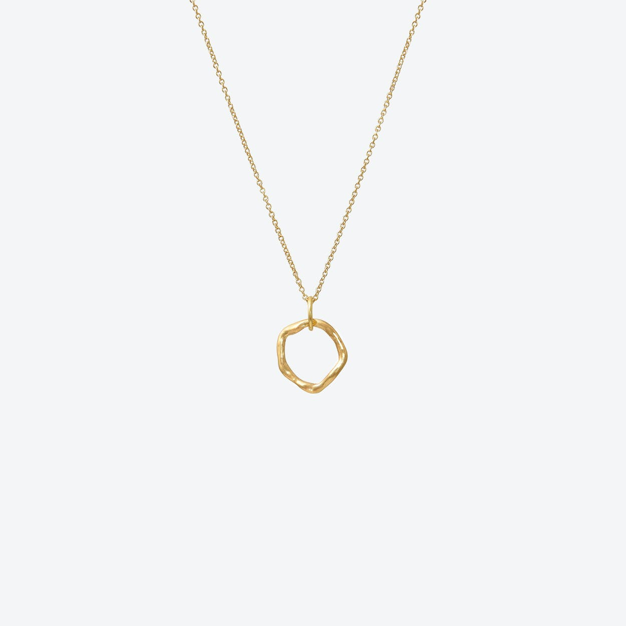 Gold Free Formed Circle Pendant