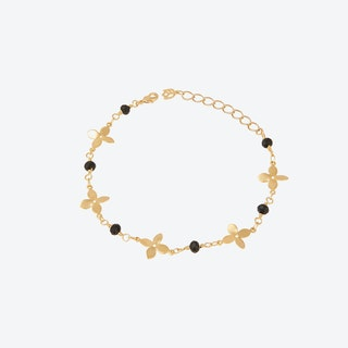 Geometric Flower Chain Bracelet
