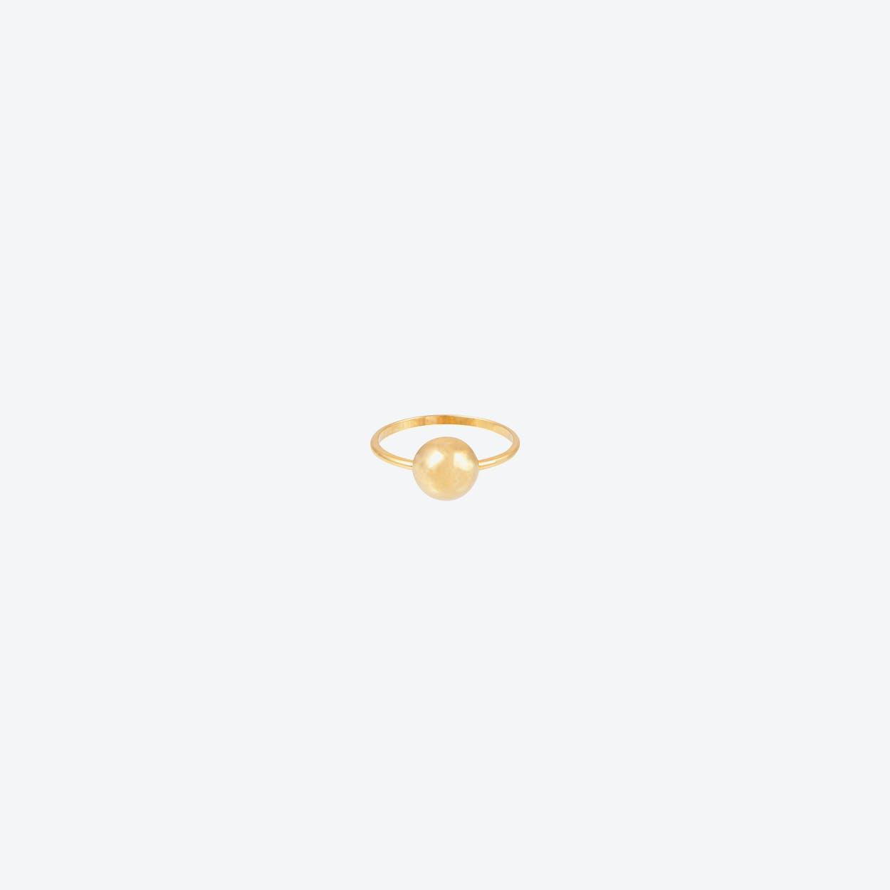 Half Ball Gold Ring