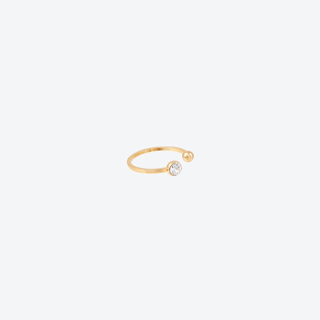 White Gold Half Disc Pendant