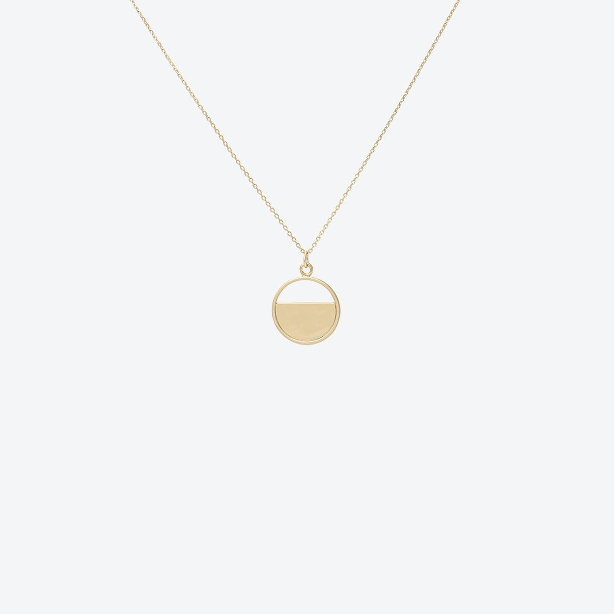 Gold Half Disc Pendant
