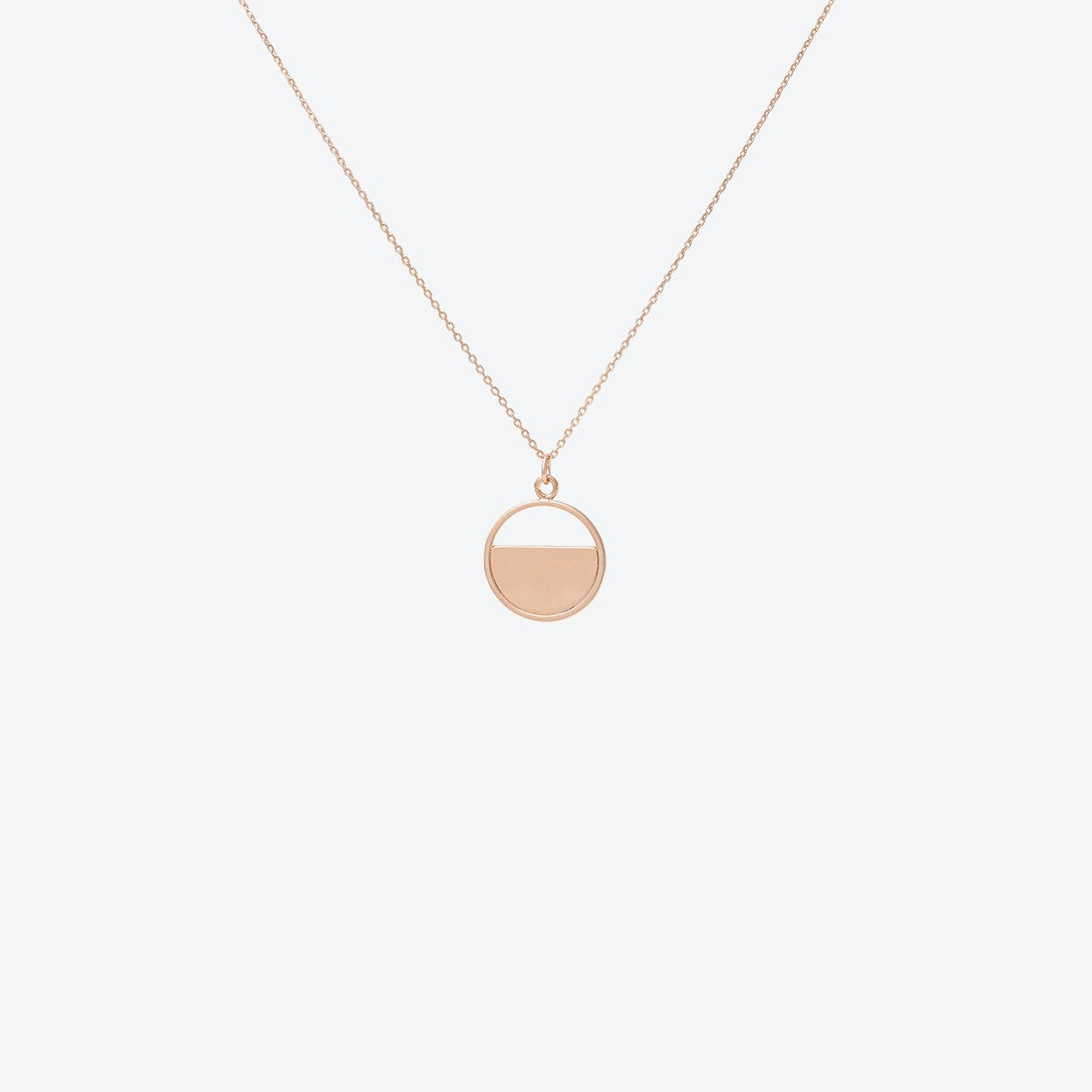 Rose Gold Half Disc Pendant