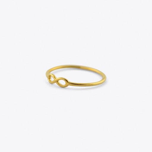 Infinity Midi Ring In Gold